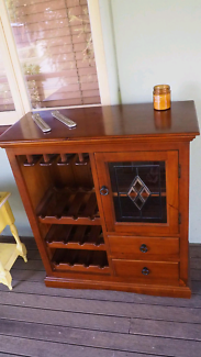 Solid timber wine cabinet