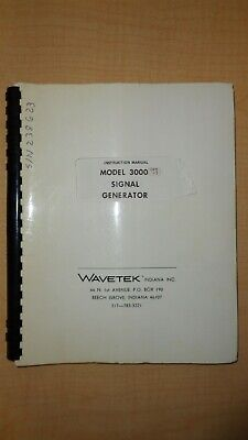 Wavetek 3000 Signal Generator Instruction Manual 6f B3