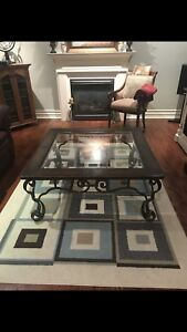 Coffee table and credenza