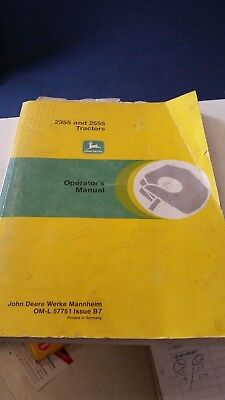 John Deere 2355 2555 Operators Manual