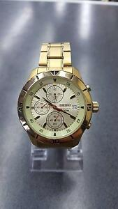 Men's Seiko Chronograph Gold Watch - Like New Dandenong Greater Dandenong Preview