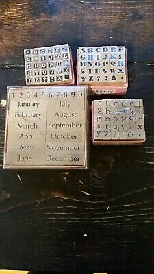 Used Stamps for Scrapbooking or Crafts alphabets dates wedding stuff - Stuff For Weddings