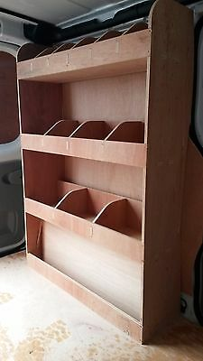 Vauxhall Vivaro SWB Tool Parts Storage Unit Ply Shelving ,Van Plywood Racking