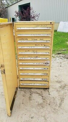 Stanley Vidmar 11 Drawer Industrial Tooling Cabinet Wswing Dr Cover 30x30x60