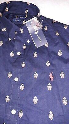 Polo Ralph Lauren Mens Crest Printed Shirt. New