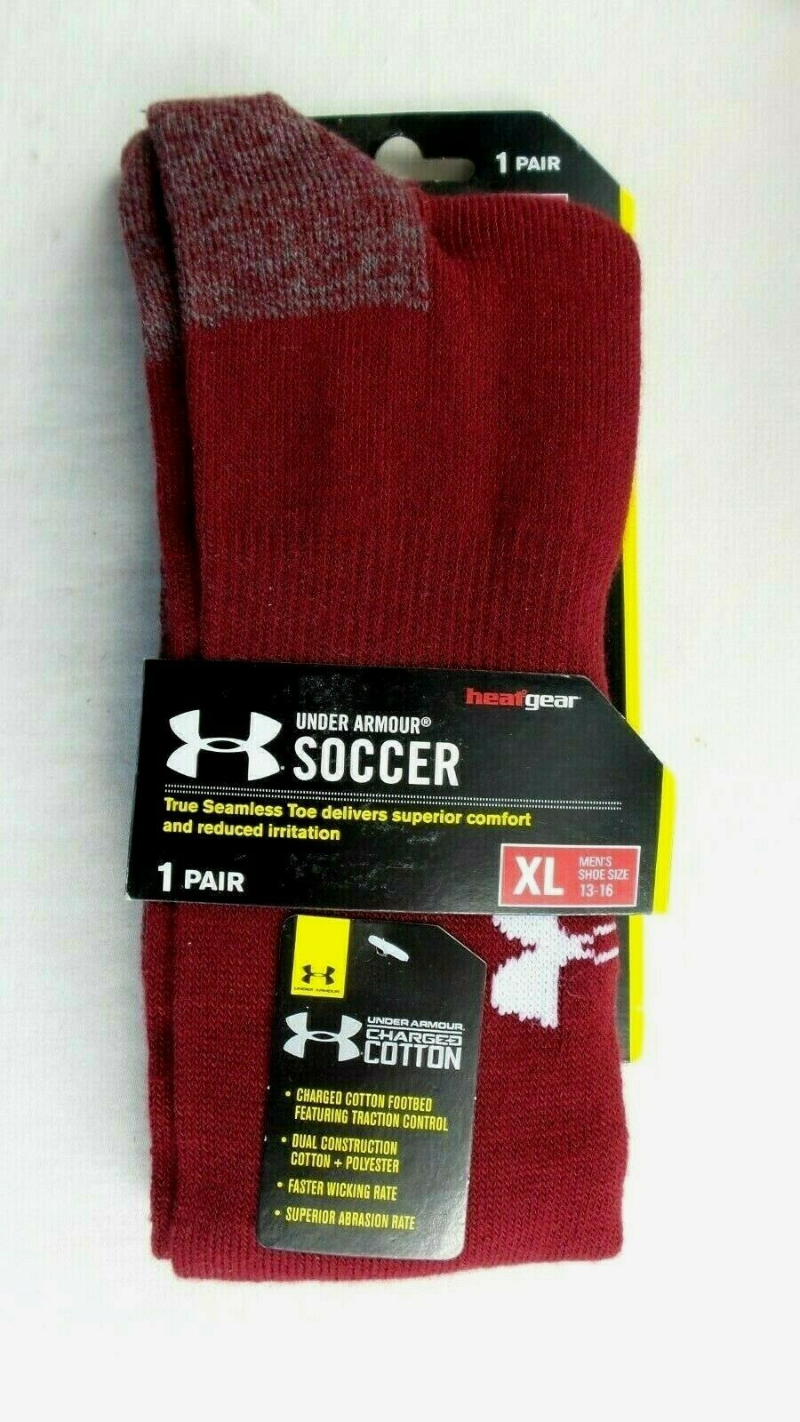 Under Armour Men's Soccer Solid Over-the-Calf Socks , Cardin