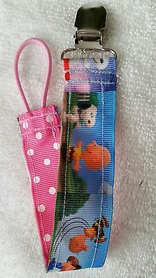 Baby Soother/Pacifier Holder w/Metal Clip/Snoopy & Friends/Brand New/Girls - Make Pacifier Holder