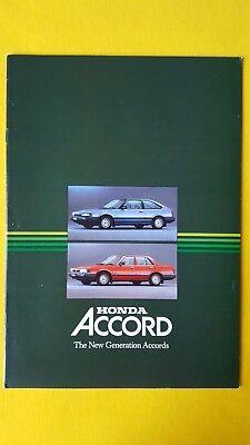 Honda Accord Executive Deluxe 3 4 door car brochure sales catalogue 1984 MINT