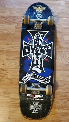 "DOGTOWN dog town Skate Sticker Blue Cross 4.25 X 3.5/"" skateboards helmets decal"