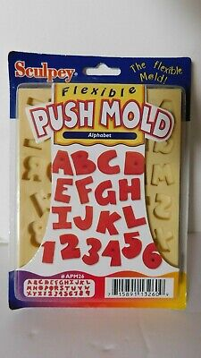 Sculpey Flexible Push Mold Alphabet and Numbers Flexible Push -