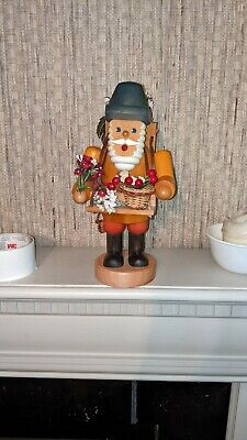 Large Unused German Flower Vendor incense Smoker 11.5 Inches high 6 inches deep