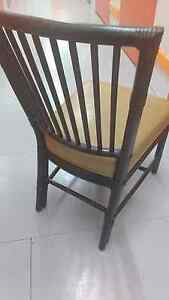 4 Gorgeous hand crafted plush leather dining chairs rattan base Richmond Yarra Area Preview