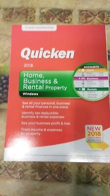 Quicken Home  Business   Rental Property 2018  2 Year Subscription    Windows