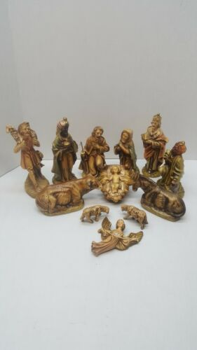Vintage Manor House Hand Painted 12 Piece Nativity Set - Made in Japan
