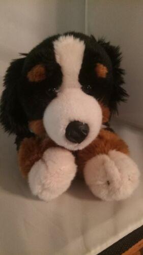 "Animal Alley Toys R Us Mountain Dog Plush Brown Black Puppy 13"" Stuffed Toy"