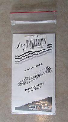 Aero Master Decals Singles 148-003 P-38J Lightning Si Si Senor S 7