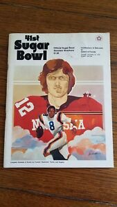 1974 Nebraska vs. Florida Sugar Bowl College Football Program With Coin