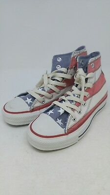 Converse Men's All Star Specialty Hi White/Red/Blue Size 3](Specialty Converse)