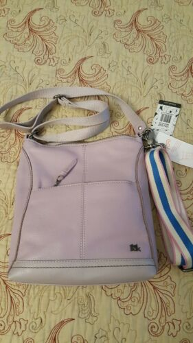nwt leather handbag lucia crossbody lilac