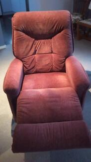 Recliner armchair and rocker, Lazyboy, maroon fabric. Port Sorell Latrobe Area Preview
