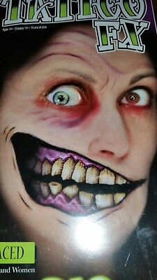 Makeup Halloween Two Faces (Tinsley Transfers Two Faced Big Mouth Face Halloween Costume Makeup Tattoo)