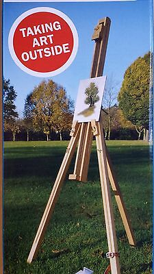 NATURAL WOOD FIELD EASEL ART SET WATER COLOUR BRUSHES PAINTING BOARDS PALETTE