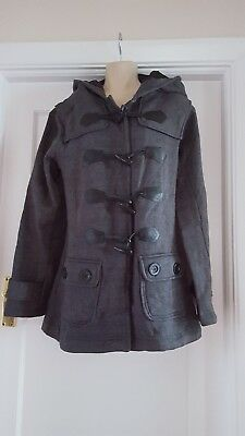 Urban Diva Duffle Coat Style  Fleece Hooded Jacket Coat ()