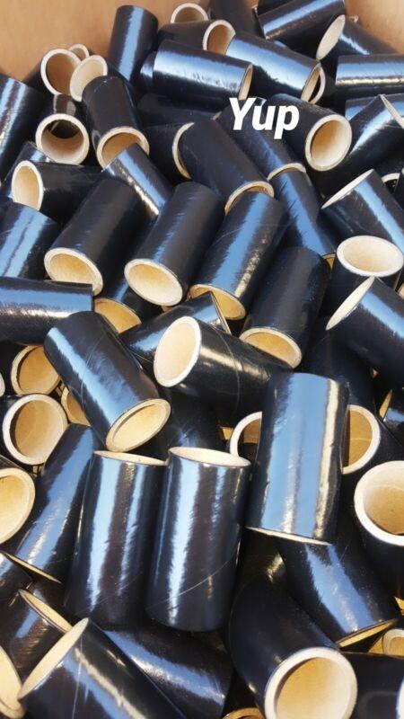 "50 Black fireworks Tubes Shells 1"" x 2-1/2 x 1/8"" thick  w/ 100 Paper plugs 37mm"