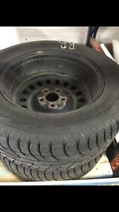 Hankook  265/60 R18 winter tires on rims
