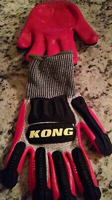 Large Ironclad Kong Cut 5 Knit Work Gloves New. Some In Original Packaging.