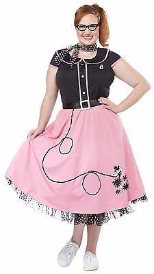 Sock Hop Dress (50s Sweetheart Dress Sock Hop Dance Costume Adult Women Plus)