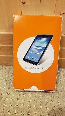 """Samsung Galaxy Tab 3  7""""/ 4G LTE  LOCKED to AT&T Tablet T217A Black Open Box."""