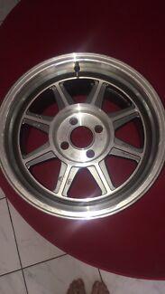 4x100 15x8 inch rims pair
