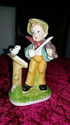Porzellan Figur Junge mit Geige