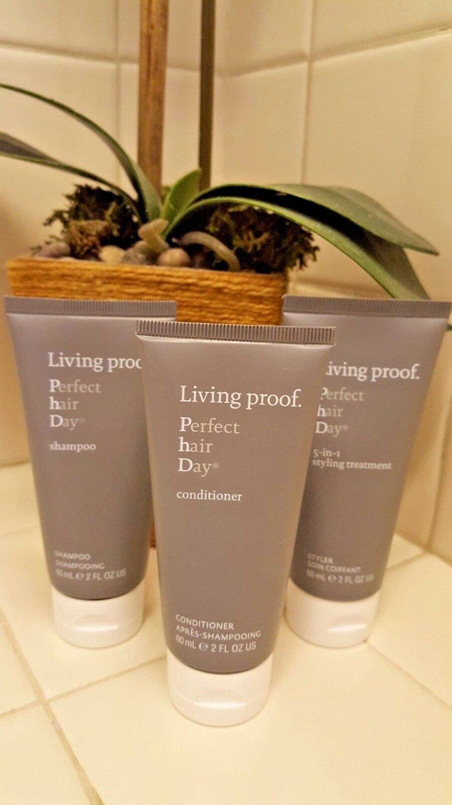 Living Proof Perfect Hair Day trio- Shampoo/Conditioner/5-in