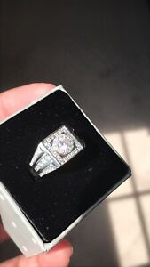 Diamond ring iced out high quality