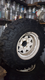4x4 extreme 4 tyres and rims 16 x 8 -28 offset 6 stud