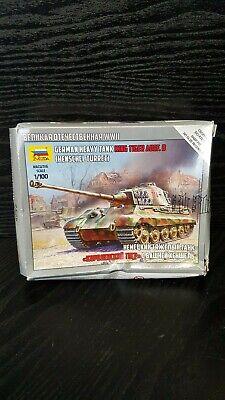 Zvezda 1/100 King Tiger Ausf. B (Henschel Turret) Heavy German Tank 6204