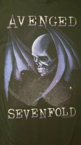 2016 Avenged Sevenfold A7X Winged Skull Shirt Size Large See Measurements