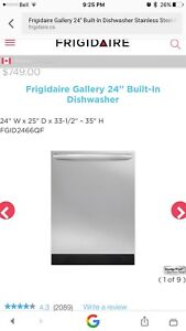 New in box Frigidaire stainless dishwasher $475