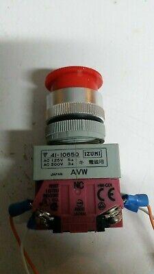 Izumi Red Emergency Stop Push Twist Button 41-10650 New