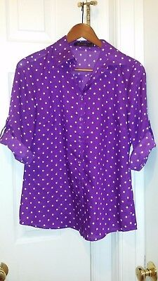 The Limited Purple Polka Dot Blouse S - The Purple Polka Dot
