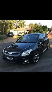 Hyundai i30 SR  black 2008 St Clair Penrith Area Preview