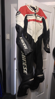 Dainese motorcycle suit.