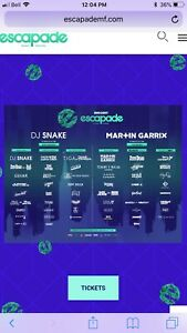 Ticket for escapade wanted! Full weekend if possible!