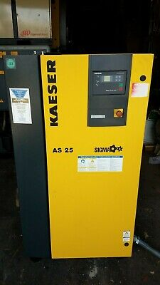 Kaeser As 25 25hp Rotary Screw Air Compressor 120cfm Low Hours 208v230v460v