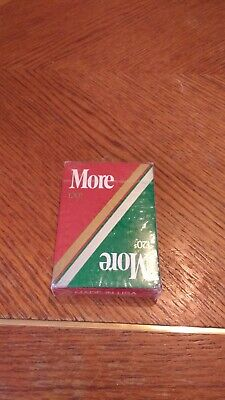 Vintage MORE 120's Cigarette Playing Cards Deck New Unopened Collectible