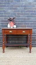 Vintage Teak Sideboard Charcoal Top Brass Shell Handles Upcycled Coogee Eastern Suburbs Preview