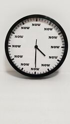 Wall Clock Cafe Press( Now, Now, Now.)