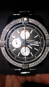 Breitling super avenger II with 1.75ct diamonds Chester Hill Bankstown Area Preview
